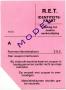 RET 1974 identiteitskaart A -a
