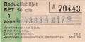 RET 1974 reductiebiljet kinderkaartje 50 cts (360) -a