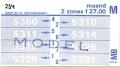 RET 1978 maandkaart 2 zones 27,00 -a