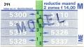 RET 1978 maandkaart 2 zones reductie 14,00 -a