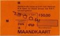 RET 1978 maandkaart alle zones 50,00 -a