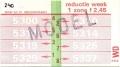 RET 1978 weekkaart 1 zone reductie 2,45 -a