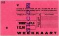 RET 1978 weekkaart RET-NS 12,50 -a