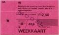 RET 1978 weekkaart vervoersgebied RET alle zones 12,50 -a