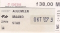 RET 1979 maandcoupon algemeen stad 38,00 (30) -a