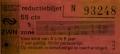 RET 1979 reductiebiljet 55 cts 1 zone combi (160B) -a