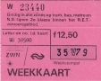 RET 1979 weekkaart alle zones RET-model 12,50 (222) -a