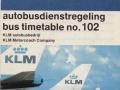 KLM bus dienstregeling 1980-1 -a