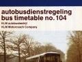 KLM bus dienstregeling 1981-1 -a