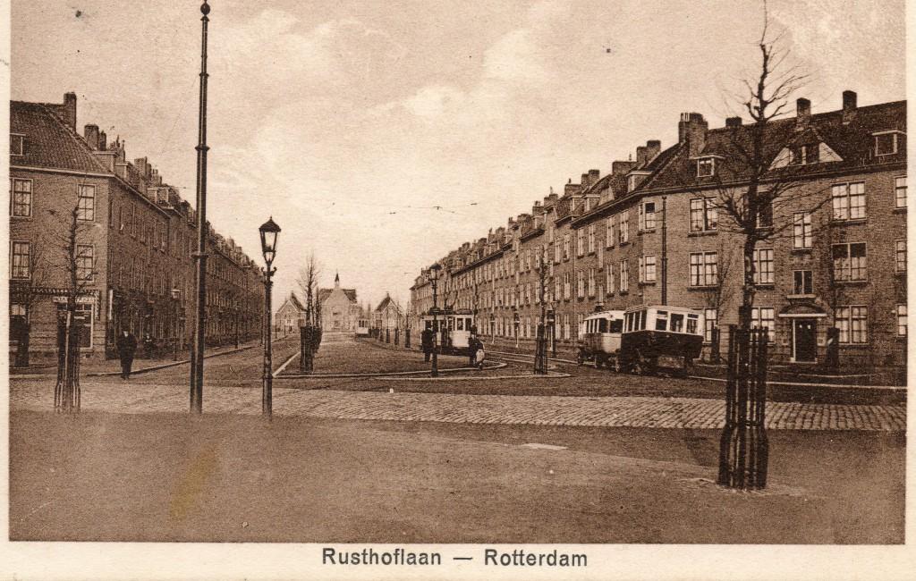 Het bus eindpunt Rusthoflaan, 1924