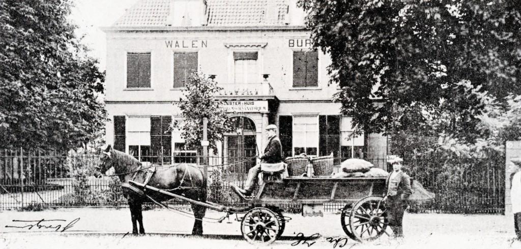 Het vertrekpunt aan de Walenburgerweg, huize Walenburg, 1903