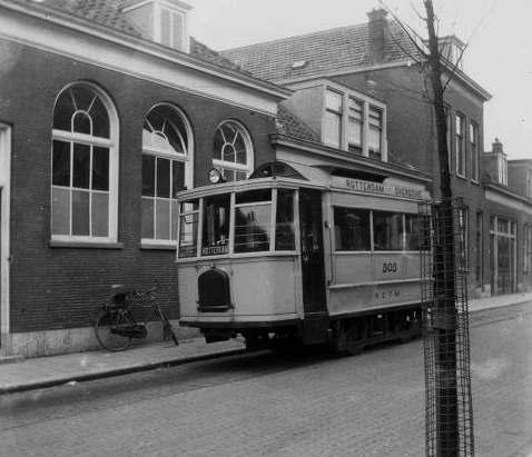 Motortram 505, RETM, Rotterdamse Rijweg, 6-4-1925, (collectie Louis van Huut)
