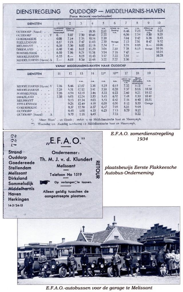De E.F.A.O. busonderneming, 1934.