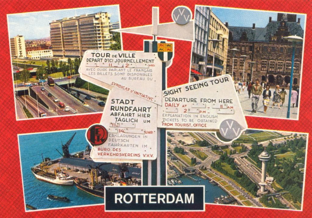 1960, gecombineerde rondit VVV-RET, prentbriefkaart