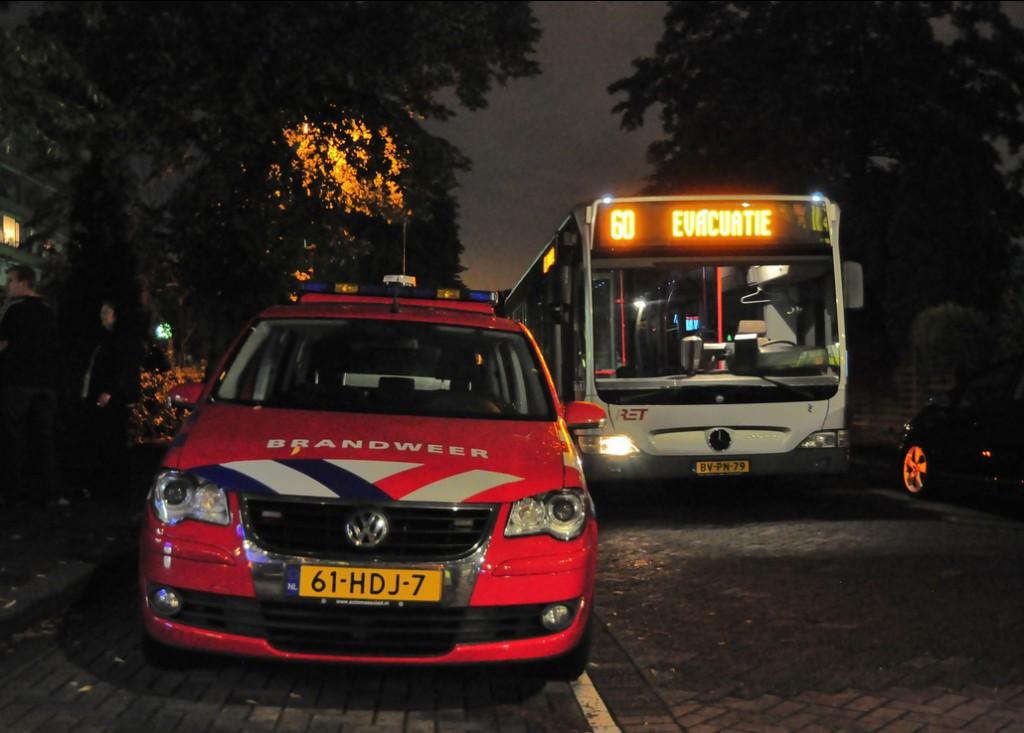 Evacuatie inzet RET, Alverstraat Hoogvliet, 2-8-2012