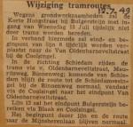 19490712-WIjziging-tramroute, Verzameling Hans Kaper