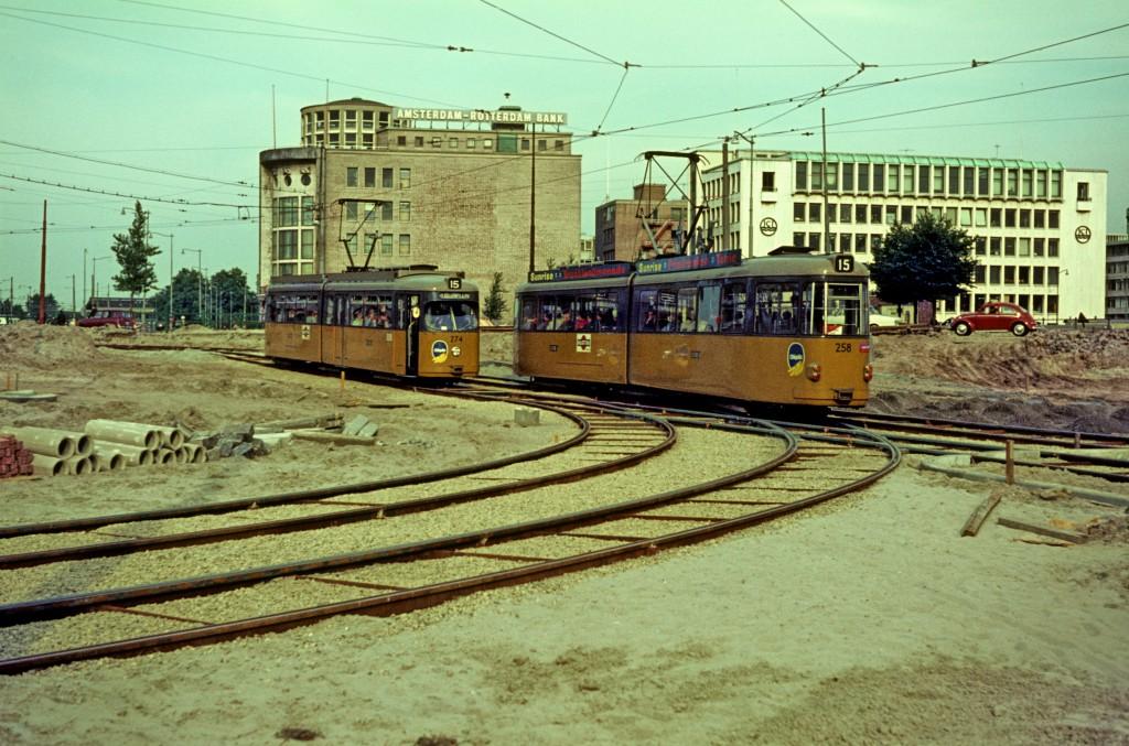 Motorrijtuig 258, Motorrijtuig 274, lijn 15, Blaak, 30-8-1967