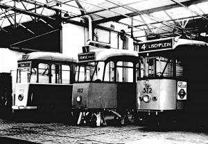 Modellen voor de 100-135 serie. Centrale Werkplaats Isaäc Hubertstraat, 1948