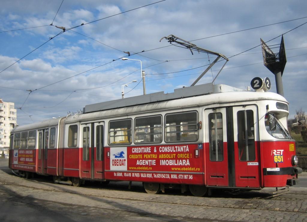 Een derde leven voor motorrijtuig 651 in  Craiova Roemenië, 2009, (foto: Colinda Verbeek)