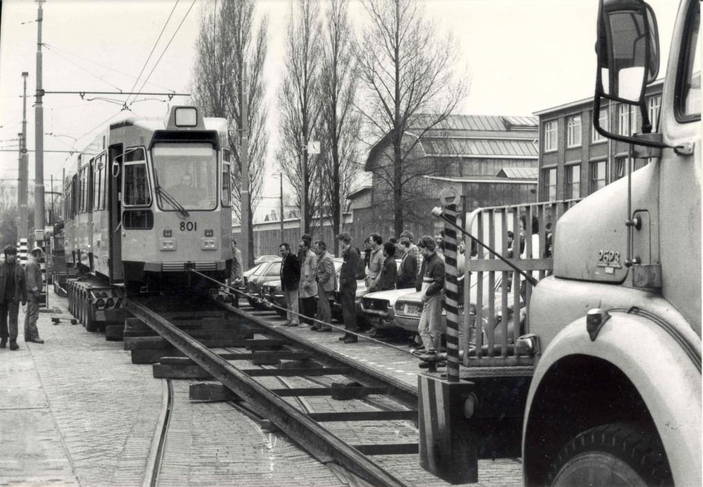 Motorrijtuig 801, aflevering CWP Kleiweg, 4-1984.
