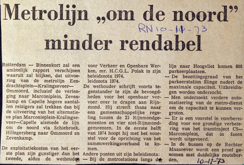 19731110 Metro om de Noord. (RN)