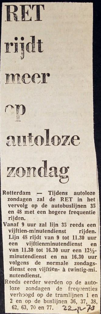 19731122 Rijden op autoloze zondag.