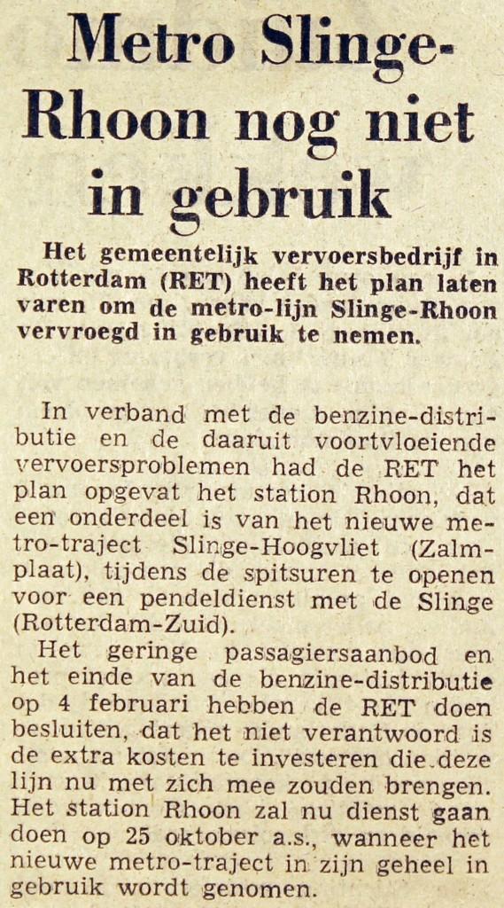 19740202 Slinge - Rhoon nog niet in gebruik. (Ref. DB)