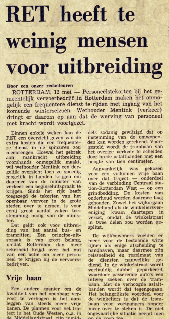 19750512 Te weinig mensen. (NRC)