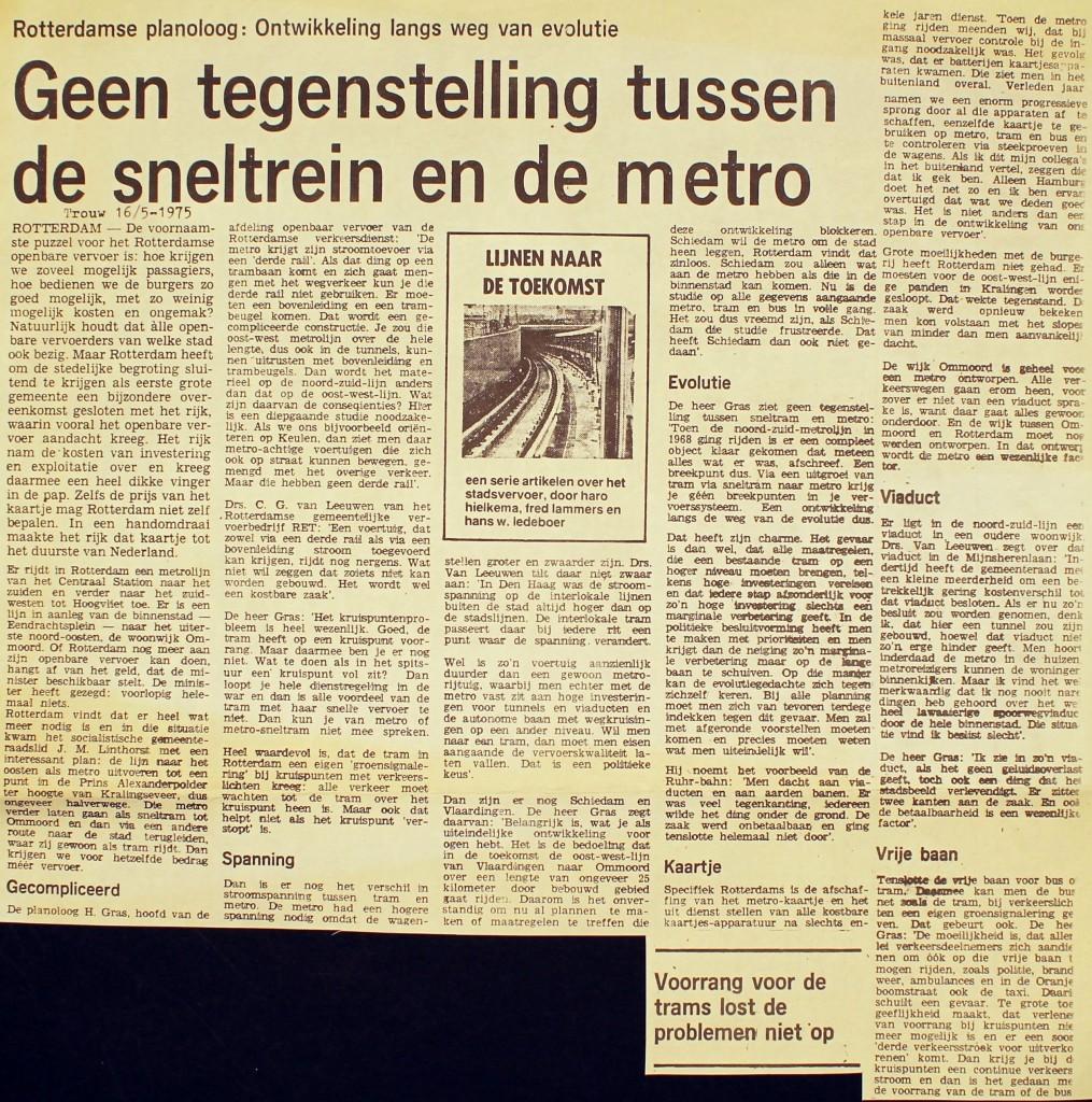 19750516 Geen tegenstellingen. (Trouw)