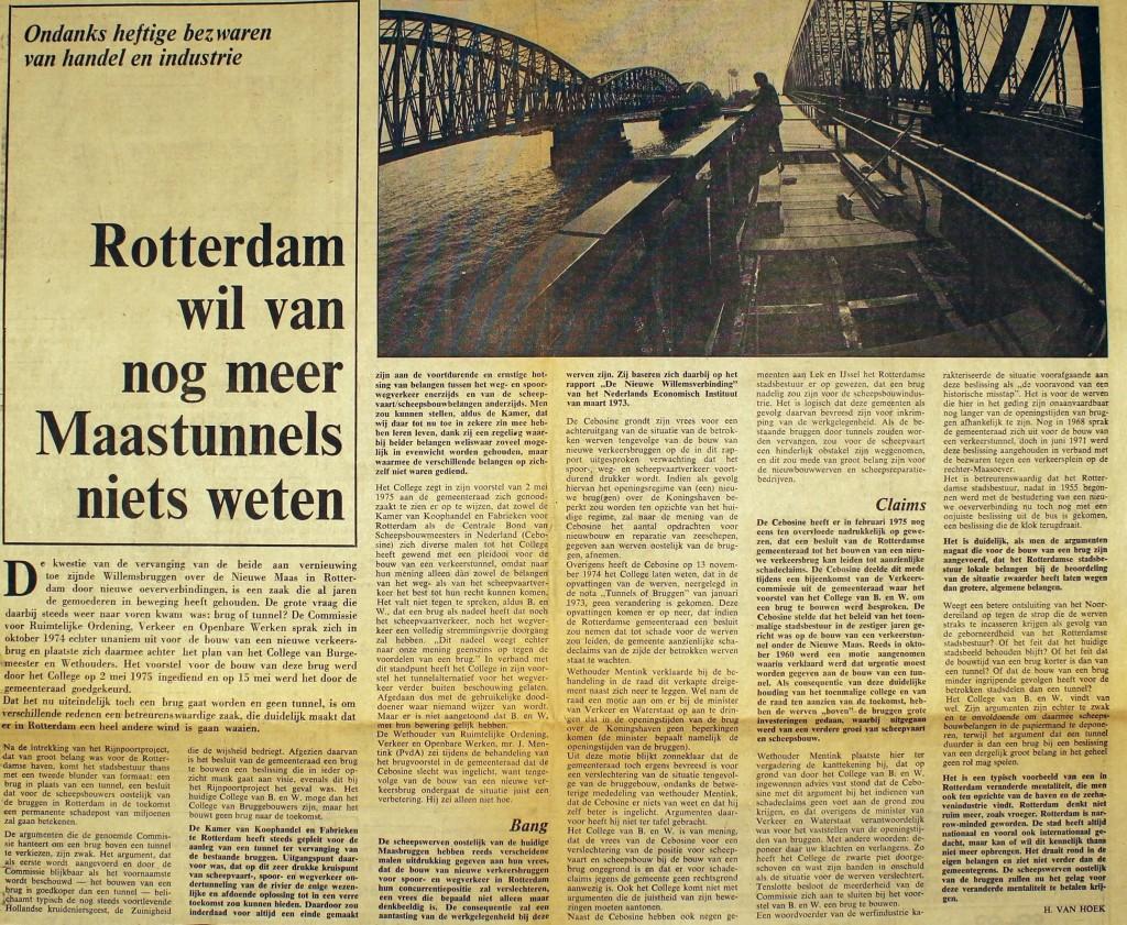 19750531 Geen tunnels meer. (Elsevier)
