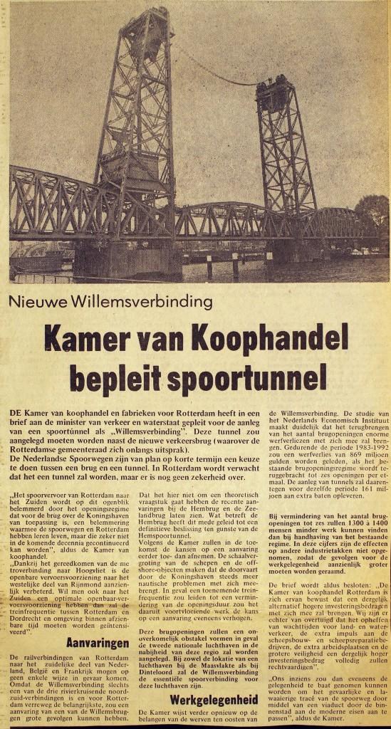 19750708 Spoortunnel bepleit. (HVL)