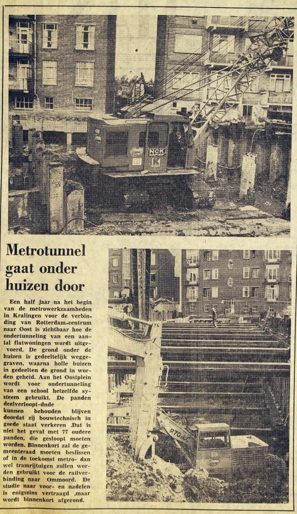 19751001 Metro onder huizen. (NRC)