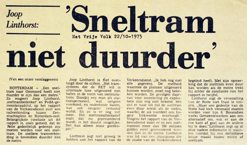 19751022 Sneltram niet duurder. (HVV)